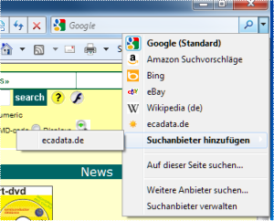confirm ecadata as new search engine
